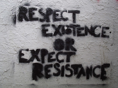 respect existence anarchy graffiti